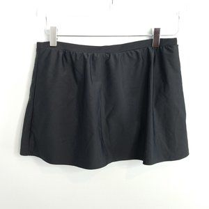 Croft & Barrow Black Swim Skirt 12